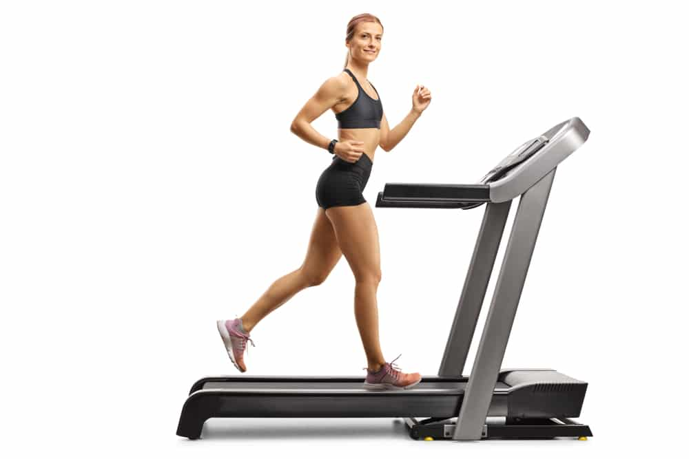 Laying a slope on the treadmill for running